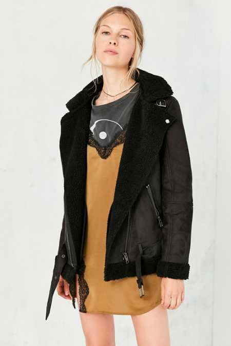 Silence + Noise Tough Hooded Aviator Jacket