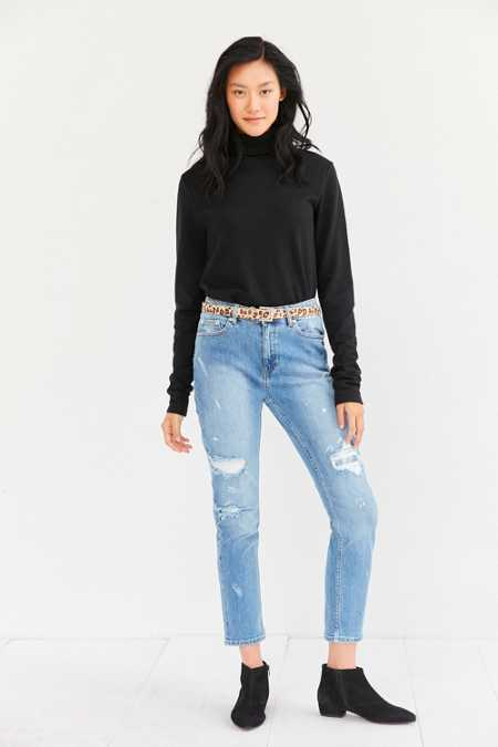 Cheap Monday Level Editor Distressed Crop Jean