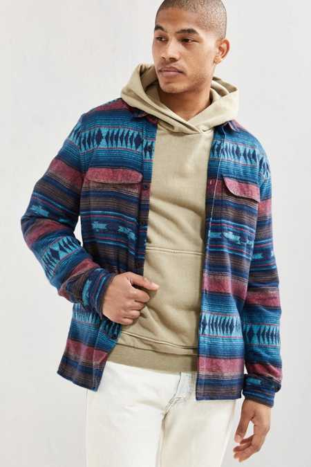 UO Blanket Jacquard Flannel Button-Down Shirt