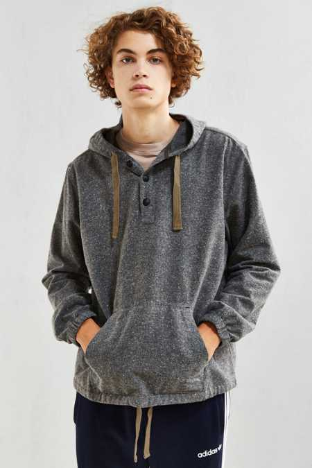 UO Flecked Hooded Flannel Shirt