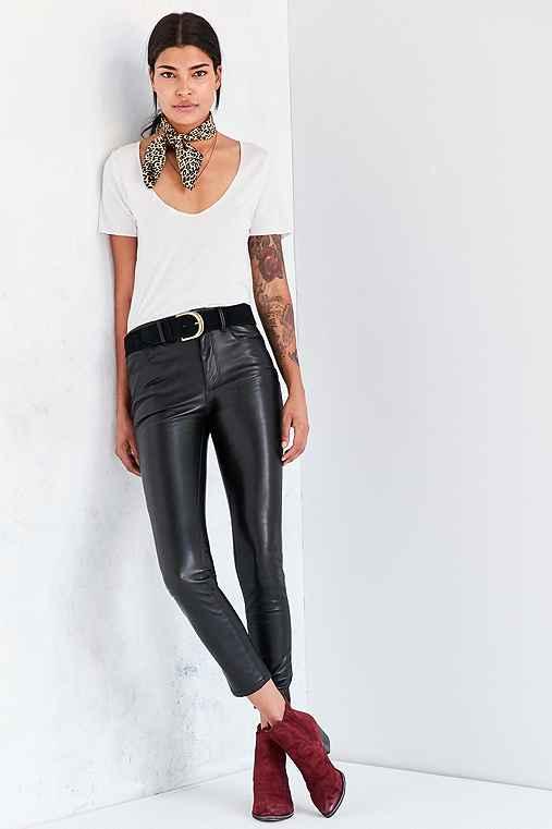 BDG Twig High-Rise Vegan Leather Pant,BLACK,25