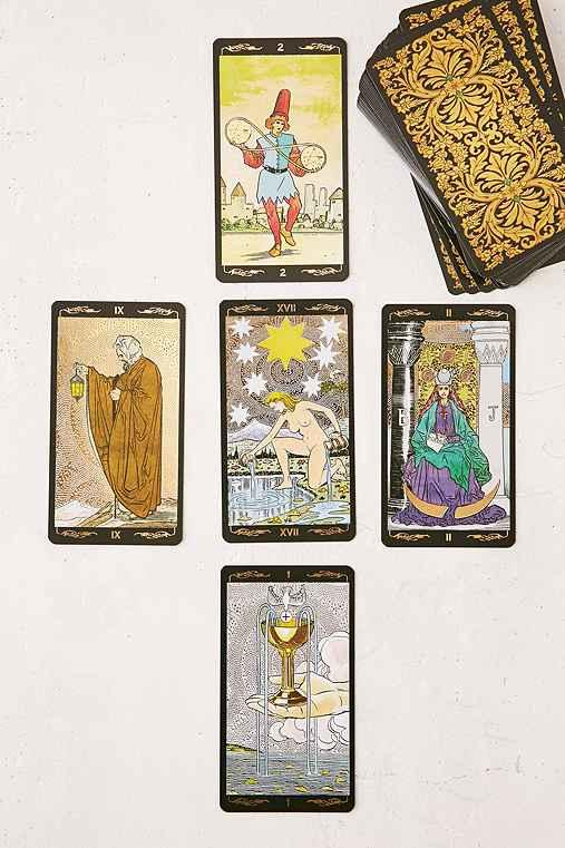Golden Universal Tarot Card Deck,GOLD,ONE SIZE