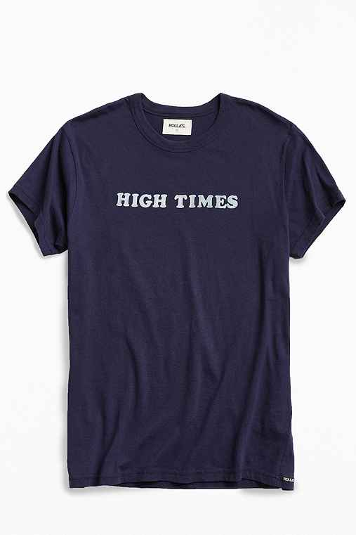 Rolla's High Times Tee,NAVY,S
