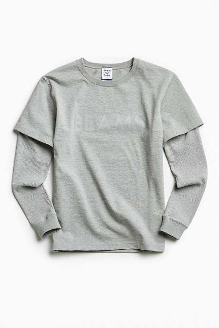 Reebok X Beams Reflective Mesh Panel Long Sleeve Tee