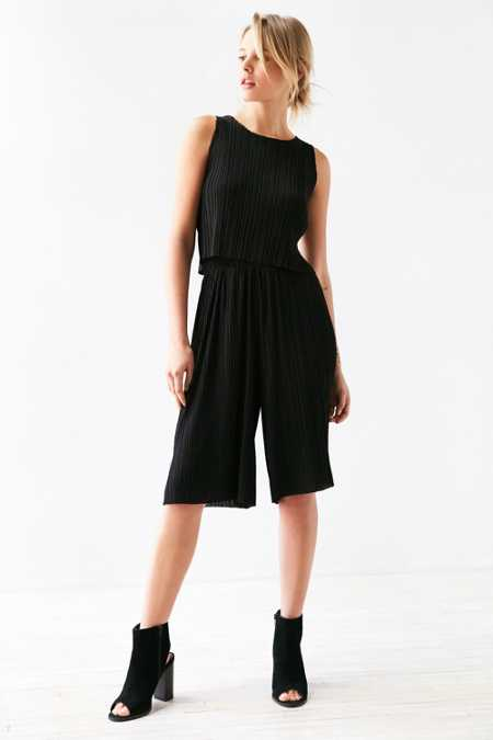 Lucca Couture Pleated Culotte Pant