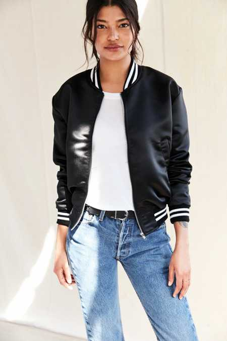 Urban Renewal Recycled Satin Bomber Jacket