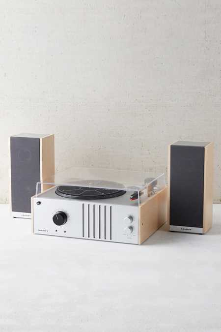 Crosley Vinyl Record Player + Detachable Speakers Set