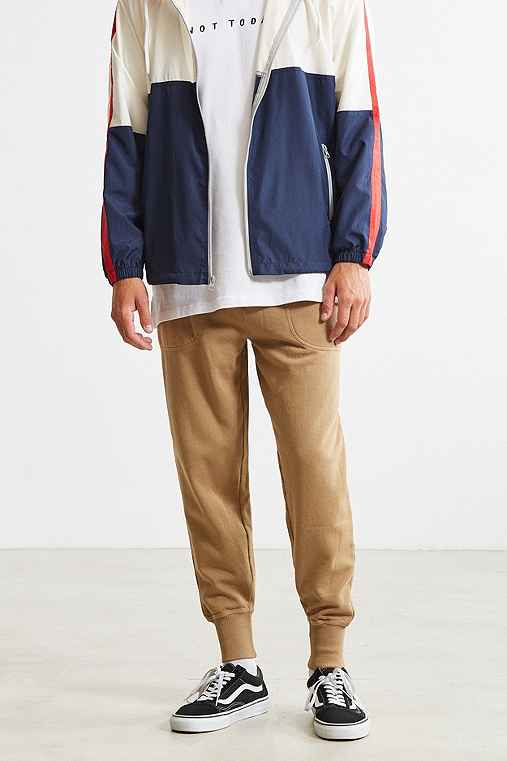 UO Terry Fleece Jogger Pant,TAUPE,L
