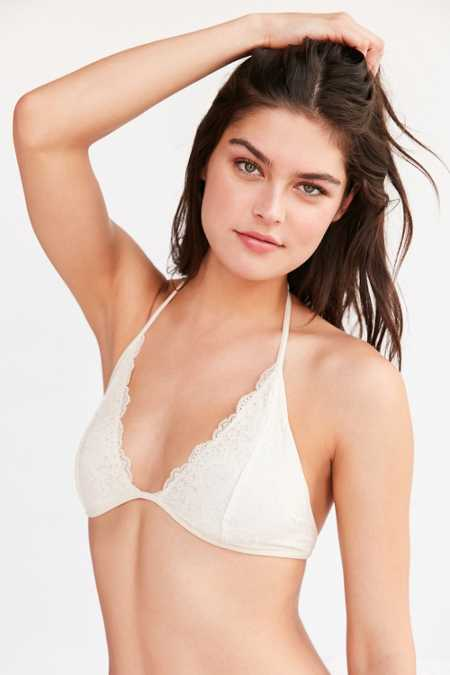 Out From Under Trina Lace Halter Bra