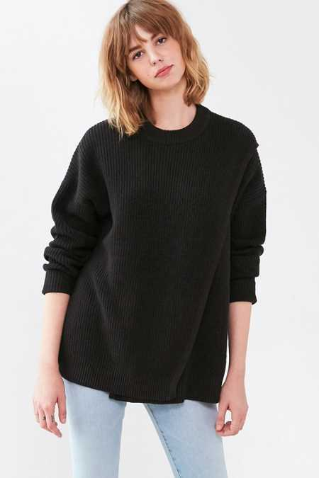 Silence + Noise Crossover Crew-Neck Sweater