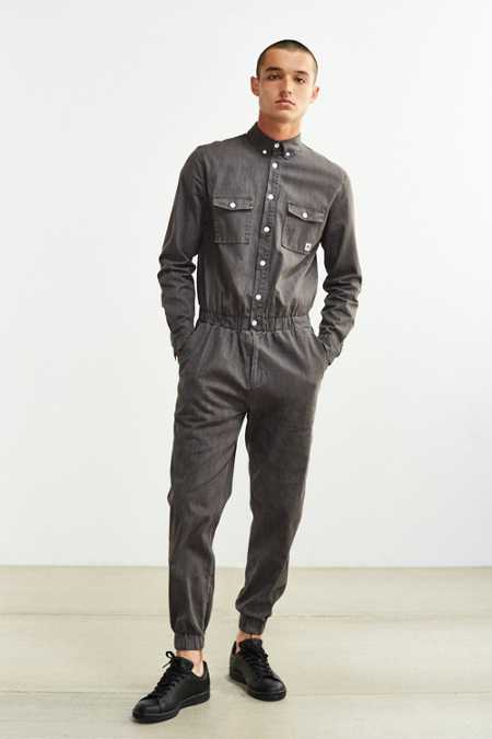 Standard Issue Denim Long-Sleeve Jumpsuit