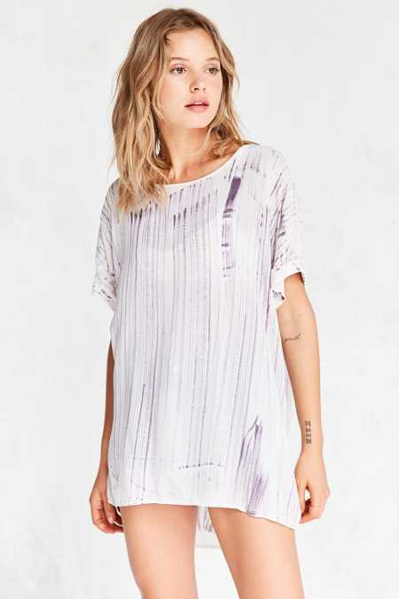 Ecote High/Low Dye-Tech Tunic Top