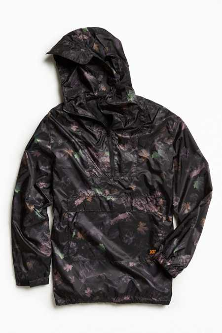 X-Large Pacific Heights Leaf Camo Windbreaker Jacket