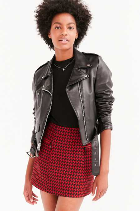 Cooperative Edith Houndstooth Mini Skirt