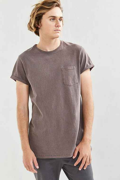 Feathers Heavy Roll-Sleeve Tee,PLUM,L