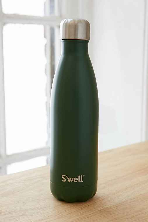S'Well 17-Oz Satin Water Bottle,DARK GREEN,ONE SIZE
