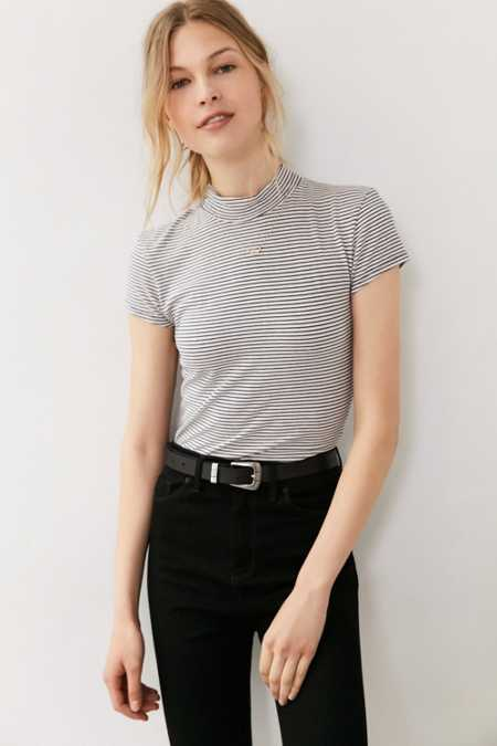 Truly Madly Deeply Maddie Mock-Neck Tee