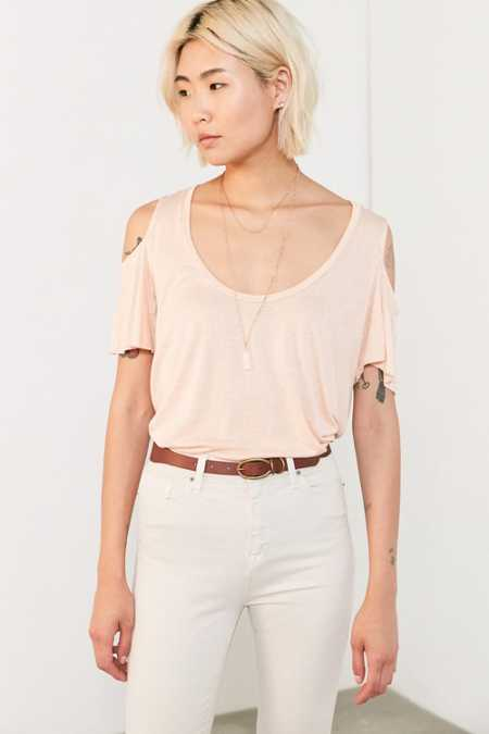 Project Social T Liza Cold-Shoulder Tee
