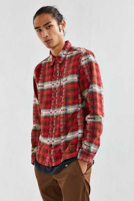 UO Jacquard Inly Flannel Button-Down Shirt