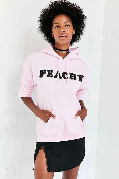 Peachy Hoodie Sweatshirt,PINK,XS