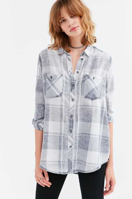 BDG Nelly Plaid Button-Down Shirt