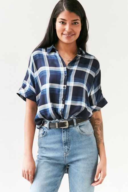 BDG Lizzie Surplice Button-Front Shirt