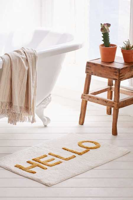 Hello Tufted Bath Mat
