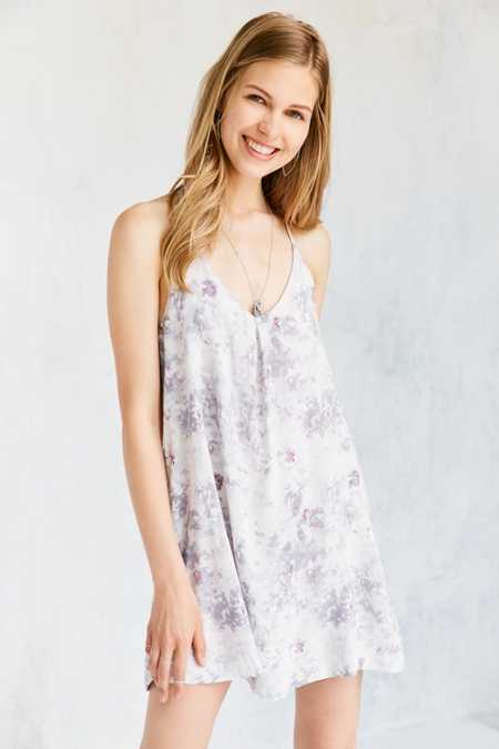 Silence + Noise Marble Madness Mini Slip Dress