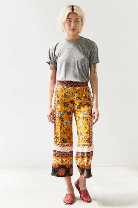 Ecote Lila Printed Crop Pull-On Pant