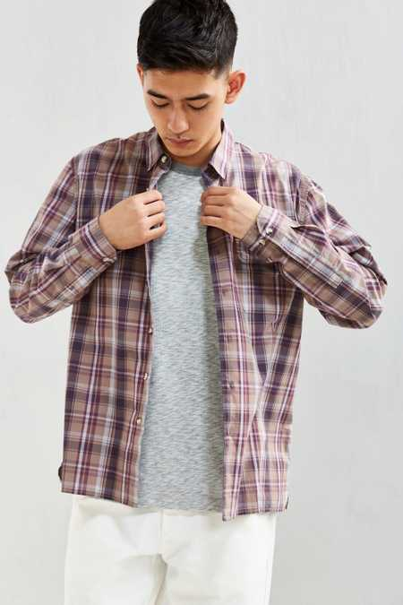 UO Gas Station Plaid Button-Down Shirt