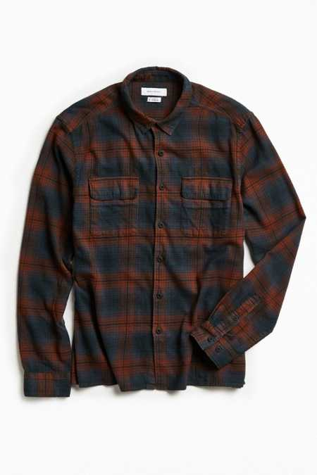 UO Tarmac Trucker Flannel Button-Down Shirt
