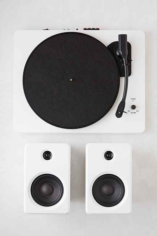 EP-33 Wireless Turntable With Speakers - White,WHITE,ONE SIZE
