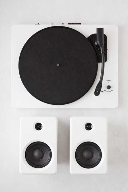 EP-33 Bluetooth Turntable With Speakers - White