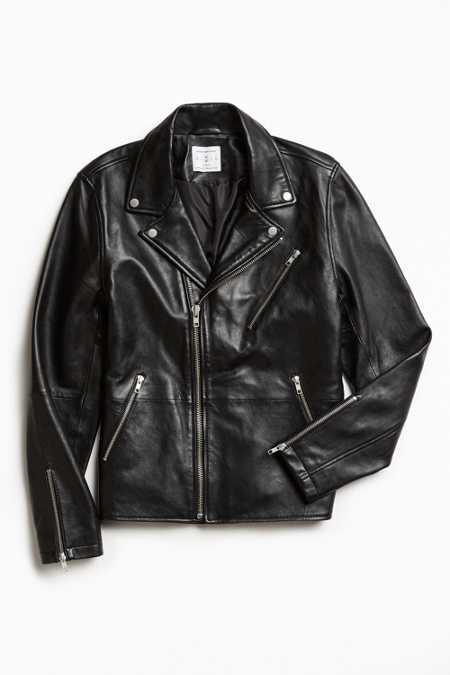 UO Napoli Leather Moto Jacket