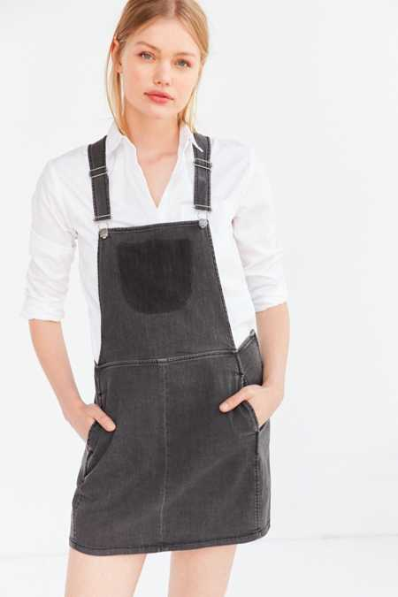 BDG Deconstructed Denim Overall Dress