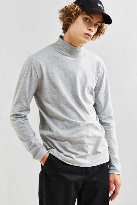 UO Basic Mock Neck Long Sleeve Tee