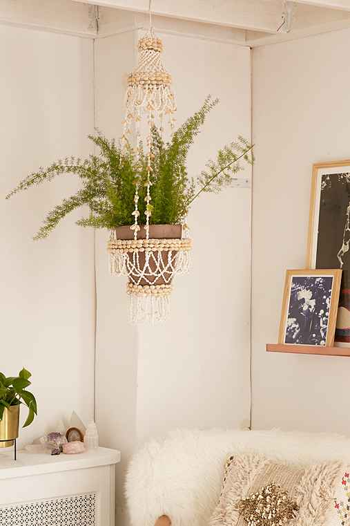 Shell Hanging Planter,NEUTRAL,ONE SIZE