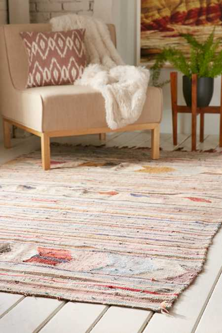 One-Of-A-Kind 5x8 Moroccan Flat Weave Rug