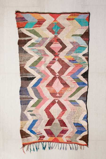 One-Of-A-Kind 5x10 Moroccan Flat Weave Rug