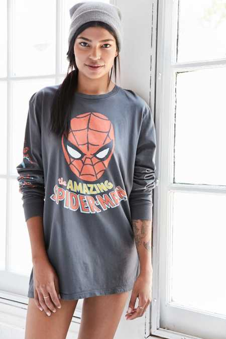 Junk Food Spiderman Long-Sleeve Tee