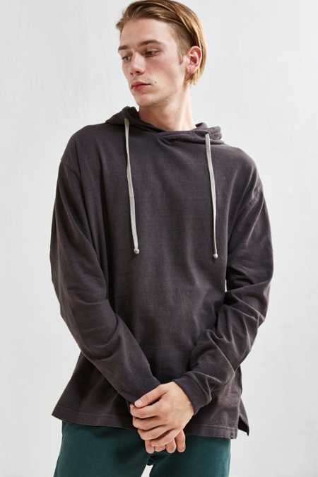 UO Box Fit Jersey Hoodie Tee