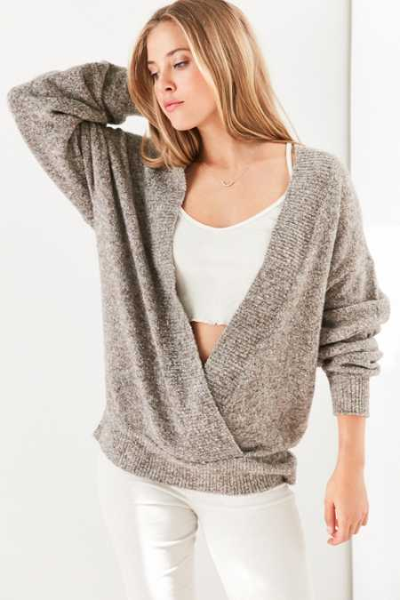 Silence + Noise Cozy Surplice Sweater