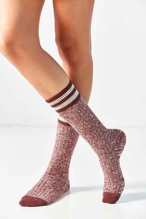 Out From Under Varsity Striped Boot Sock,RED,ONE SIZE