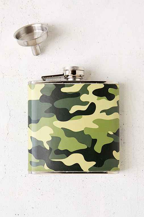 Camo Flask,GREEN,ONE SIZE