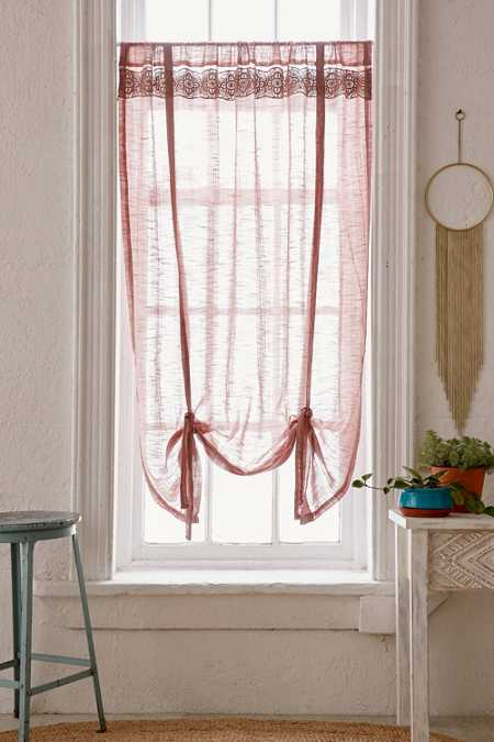 Adara Trim Draped Shade Curtain