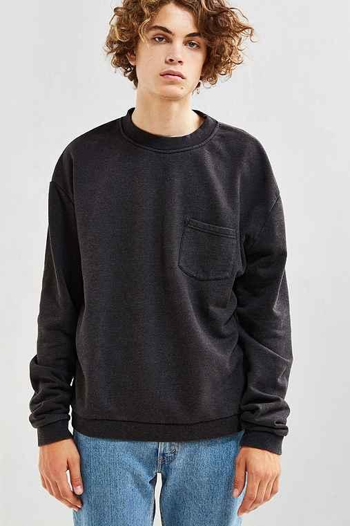 UO Garnett Pocket Crew Neck Sweatshirt,BLACK,M