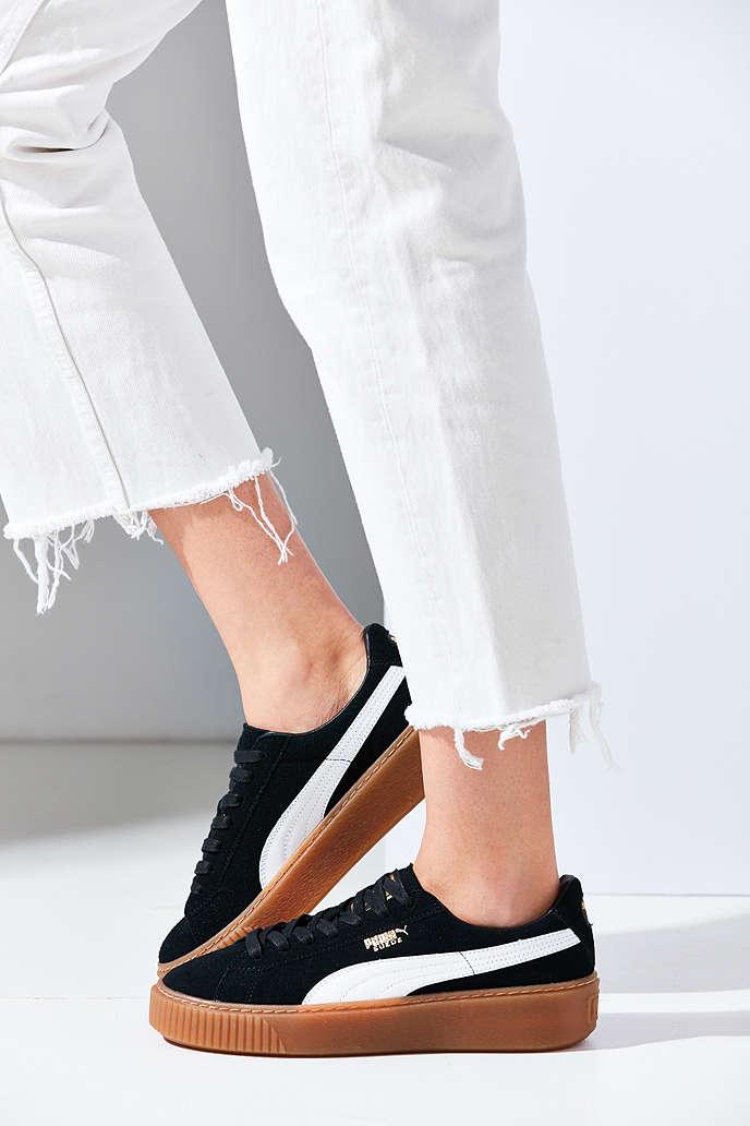 puma basket suede platform sneaker