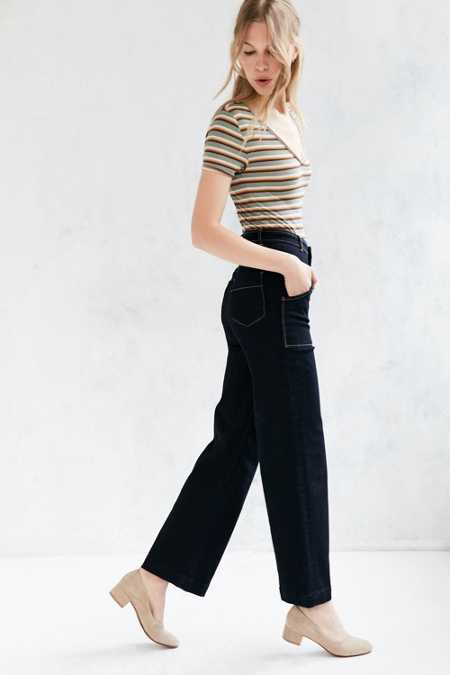 BDG Cropped High-Rise Wide-Leg Jean