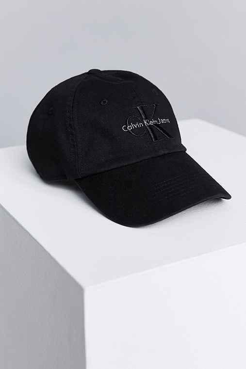 Calvin Klein Canvas Baseball Hat,BLACK,ONE SIZE