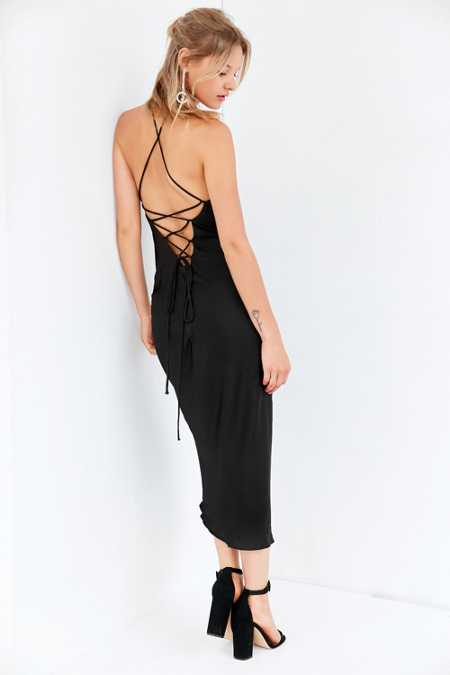 Silence + Noise Bronte Bias-Cut Midi Slip Dress